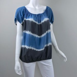 Joie Tops - {Joie} Caro Tie-Dye Silk Top in Blue, $218